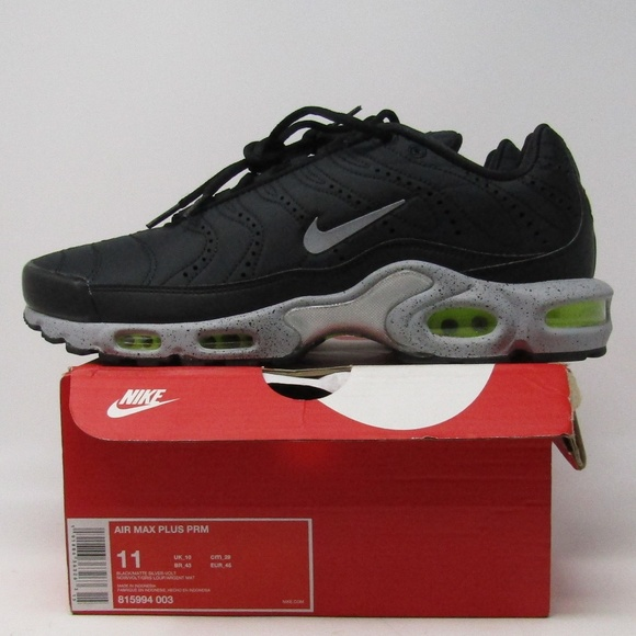 sale retailer 9dae7 76519 Nike Air Max Plus PRM Men s Shoe 815994-003 BLACK